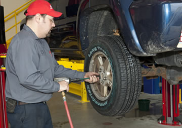how to rotate front wheel drive tires