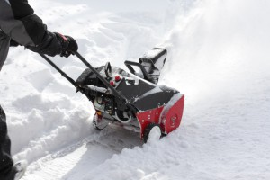 Removing Snow with Snow Blower
