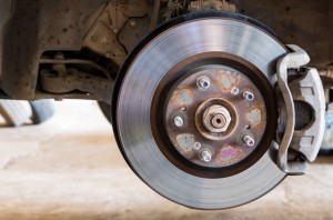 brake rotors on a car