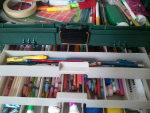 Tackle Box with Art Supplies
