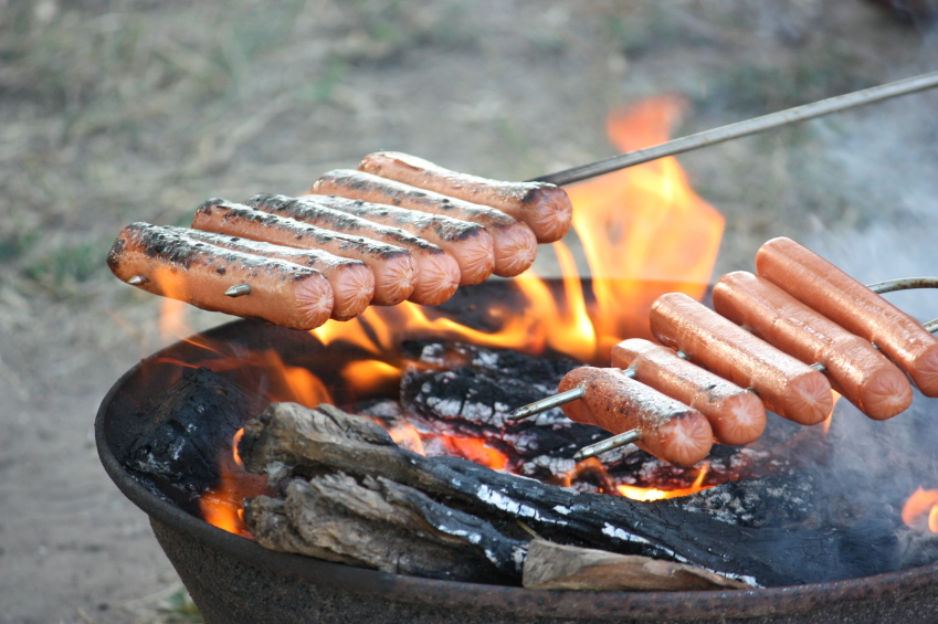 Outdoor Cooking On A Camping Trip