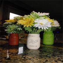 Mason Jar Vases DIY