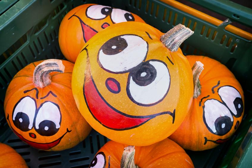 pumpkin painting - Halloween Pumpkins Painted