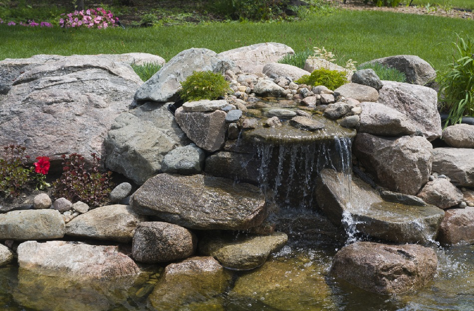 How to build a waterfall for your pond blain 39 s farm for Building a fountain pond