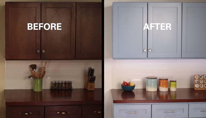 Kitchen Cabinets Ideas can i stain my kitchen cabinets : Refinish Kitchen Cabinets with KILZ Max | Blain's Farm & Fleet Blog